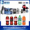 Completare la riga di riempimento in bottiglia automatica della bevanda gassosa