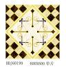 Mattonelle di pavimento di cristallo lustrate dorate di puzzle del Fujian in azione (BDJ60199)