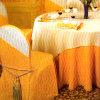 Tissu de table ronde et couverture 21 de chaise