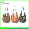 Nouveau sac de plage de paille de papier de crochet de couleurs de mélange de conception de Luda