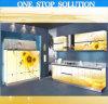 L Shaped Nuevo gabinete de cocina con inyección de tinta 3D (SM0009)