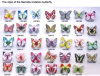 Farfalla del Barrette grande per gli ornamenti dei capelli