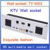Do painel video universal da tomada da informação da rede RJ45 do USB do VGA do plugue HDMI do soquete de parede prata Home do soquete de parede Ty-W03 do hotel KTV de /Multimedia