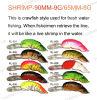 Pêche du palan de pêche d'attrait--Amorce de manivelle de forme de crevette (HRL003)