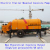 Reboque elétrico bomba concreta montada
