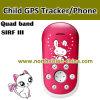 Niño GPS Tracker con Phone Function, Low RF&Smart Alert, Voice Tiempo, Alarm, Tracking Verdadero-Time, SOS