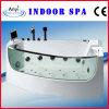 Vasca da bagno dell'interno acrilica di massaggio di Whirte con vetro