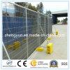 El panel temporal de la cerca, retén de la cerca, paréntesis, abrazaderas, soldó el panel de la cerca