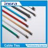 Hochleistungs-Belüftung-überzogener Edelstahl-Metallkabelbinder mit Rollenkugel