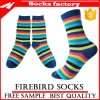 Streifen-Breathable weiche Baumwollbeiläufige Socken der Frauen und kundenspezifische Socken