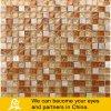 Mosaico de piedra de Travertino con el azulejo de mosaico del vidrio cristalino 03