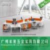 6개의 시트 워크 스테이션 단순한 설계 사무실 테이블