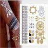 Etiqueta engomada temporal impermeable del tatuaje de la transferencia metálica de la carrocería de la manera