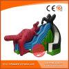 Glissière gonflable jurassique de la Chine avec le dinosaur et le gorille (T4-602)