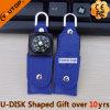 승진 선물 (YT-5113)를 위한 자전 가죽 나침의 USB Pendrive