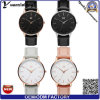 Frauen-Handuhrmvmt-echtes Leder-Dame-Kleid-Uhr-Edelstahl-Form-beiläufige Uhr-Schweizer-Uhr der Förderung-Yxl-268
