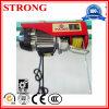 Élévateur électrique de levage portatif de câble métallique de qualité mini