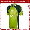 Críquete Sublimated Jersey da alta qualidade verde por atacado (ELTCJI-2)