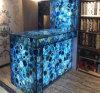 Lajes azuis da ágata de Gemstone natural para a decoração interior