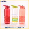 Botellas de agua plásticas de la paja del aspecto colores finos de la manera de diversos