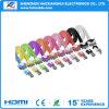 Портативный цветастый кабель USB Sync данных на iPhone 4