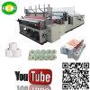 Papel de rodillo de tocador el rebobinar de la alta calidad produciendo precio de la máquina