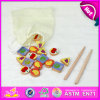Christmas 2015 Wooden Fruit Puzzle Toy, puzzle Puzzle, Role Play Wooden Pretend Toy di Children Wooden Fruit con Chopsticks W10b117