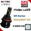 Lumières automatiques neuves de phare du véhicule DEL du phare 9004 de G6 Philips