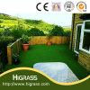 Alfombra artificial de la hierba de la hierba sintetizada verde natural