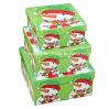 Boîte de stockage d'affichage de Noël d'impression d'homme de neige/boîte de cadeau papier carré de Noël