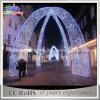 Niedriger Preis-große weiße im Freienbogen-Weihnachtsbeleuchtung