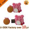 Projetar USB cor-de-rosa doce Pendrive do PVC do porco (YT-PP)