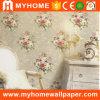 Revêtement de mur imperméable à l'eau gravé en relief par vinyle pour la décoration à la maison