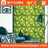 Papel de parede da cor verde 3D KTV para o entretenimento (YS-150808)