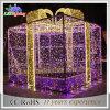 Luz impermeável ao ar livre da decoração do motivo da caixa de Natal da corda da corda