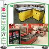 Supermarkt-Prüfungs-Kostenzähler-Zahlschalter-Kassierer-Schreibtisch-Metallkostenzähler