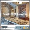 Granito Polished naturale bianco/grigio per il controsoffitto della cucina/parte superiore di vanità
