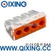 Ce 309 tipo empuje de Wago de 4 cuadrillas en el acero de Stainles del alambre o el conector del cobre con color anaranjado