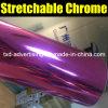 Alta película rosada del vinilo del espejo del cromo de Strechable
