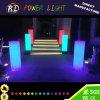 Pilar encendido LED de interior del cilindro del RGB de los muebles plásticos