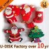 크리스마스 산타클로스 PVC USB 섬광 드라이브 최신 승진 선물