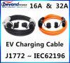 tipo de cabo cobrando de 16A 32A EV - 1 a datilografar - 2 plugue cobrando do conetor EV de J1772 EV