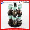 Großhandelsglas-Glas des Gewürz-100ml mit drehender Zahnstange