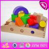 O brinquedo de Construst de 2015 tijolos do bloco de apartamentos, tijolos que dos miúdos o inteleto Buliding obstrui brinquedos, de madeira colorido aprende o brinquedo W13A064 dos tijolos