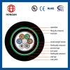 Base al aire libre del cable óptico GYTA53 4 de fibra para la comunicación hecha en China