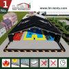 Grande barraca da cor preta para o centro de esporte provisório