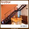 Step di legno Straight Staircase per Interior Decoration (SJ-H853)
