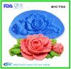 Silicone de fleur de la qualité 3D décorant le moule pour le gâteau