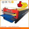 Trapèze de mur de feuille de toit de tuile de Double couche formant la machine