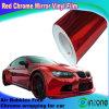A folha do vinil do envoltório do carro do vermelho de cromo, folha do carro, folha protetora do carro, bolha de ar livra 1.52m*30m